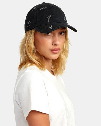 0 STAPLE DAD HAT Black WAHWWRST RVCA