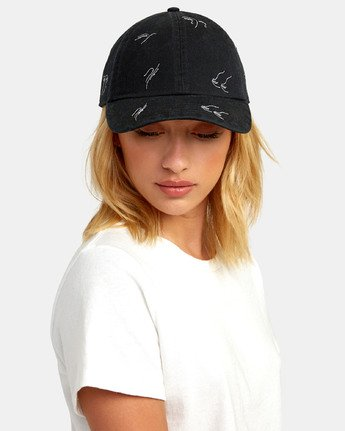 1 STAPLE DAD HAT Black WAHWWRST RVCA