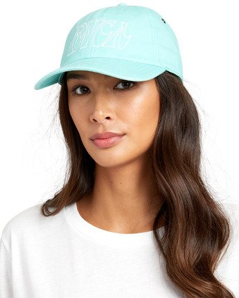 3 STAPLE DAD HAT Green WAHWWRST RVCA