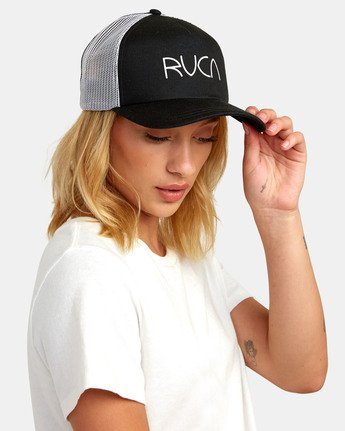 1 TITLE TRUCKER HAT Black WAHWWRTI RVCA