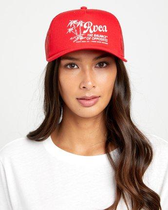 1 TITLE TRUCKER HAT Red WAHWWRTI RVCA