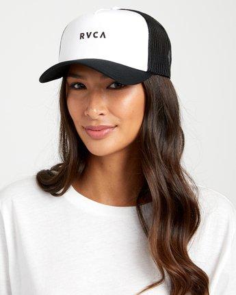 1 TITLE TRUCKER HAT White WAHWWRTI RVCA