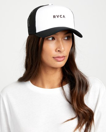 0 TITLE TRUCKER HAT White WAHWWRTI RVCA