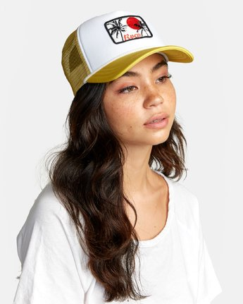 1 UNPHASED TRUCKER HAT Orange WAHWWRUN RVCA