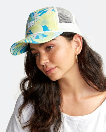 1 UNPHASED TRUCKER HAT White WAHWWRUN RVCA