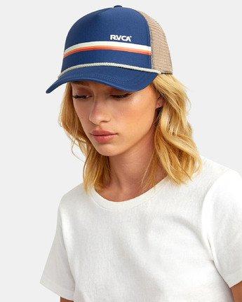 2 UNPHASED TRUCKER HAT Blue WAHWWRUN RVCA