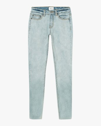 6 Dayley Mid Rise Denim Jeans White WCDP02DA RVCA