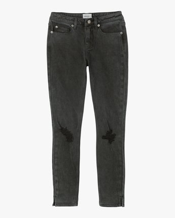6 Dayley Mid Rise Denim Jeans Black WCDP02DA RVCA