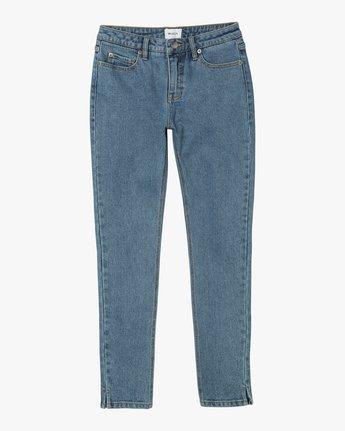 6 Dayley Mid Rise Denim Jeans Blue WCDP02DA RVCA