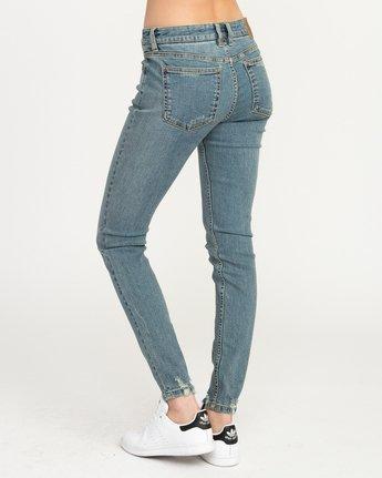 1 Dayley Mid Rise Denim Jeans Blue WCDP02DA RVCA