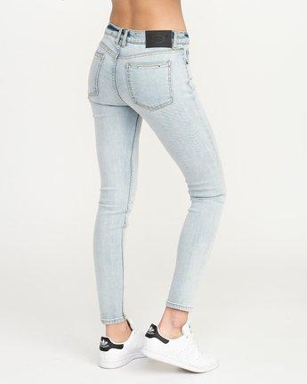 4 Dayley Mid Rise Denim Jeans White WCDP02DA RVCA
