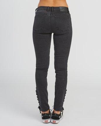 3 Dayley Mid Rise Denim Jeans Black WCDP02DA RVCA
