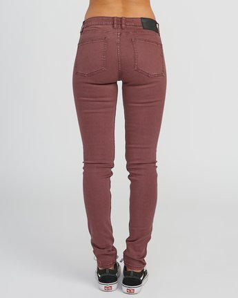 3 Dayley Mid Rise Denim Jeans Pink WCDP02DA RVCA