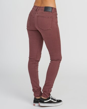 4 Dayley Mid Rise Denim Jeans Pink WCDP02DA RVCA
