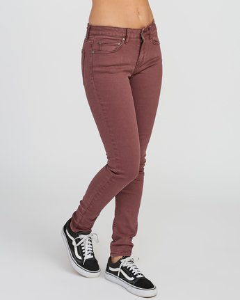 5 Dayley Mid Rise Denim Jeans Pink WCDP02DA RVCA