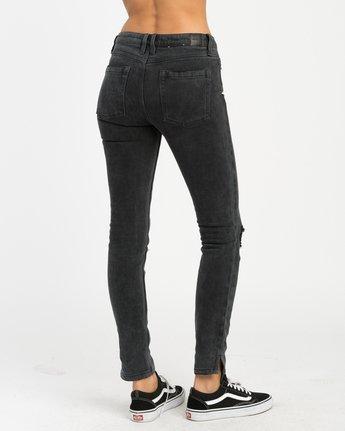 5 Dayley Mid Rise Denim Jeans Black WCDP02DA RVCA