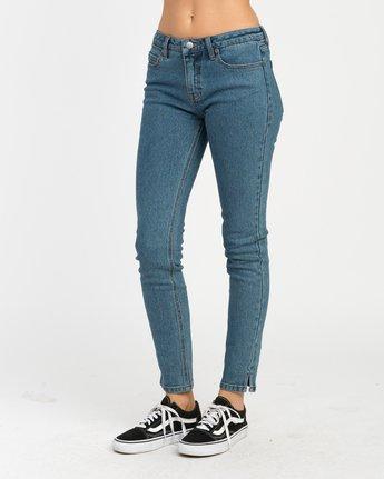 2 Dayley Mid Rise Denim Jeans Blue WCDP02DA RVCA