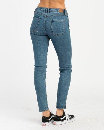 4 Dayley Mid Rise Denim Jeans Blue WCDP02DA RVCA