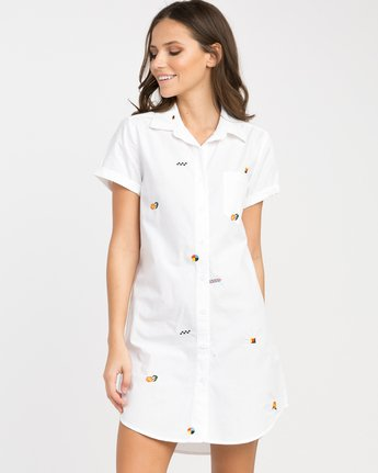 0 Luke Pelletier Ditz Embroidered Shirt Dress  WD01NRDI RVCA
