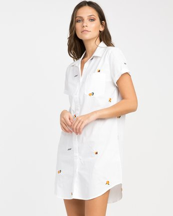1 Luke Pelletier Ditz Embroidered Shirt Dress  WD01NRDI RVCA