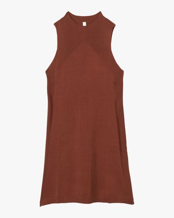 6 Chev Sweater Dress Brown WD01QRCH RVCA