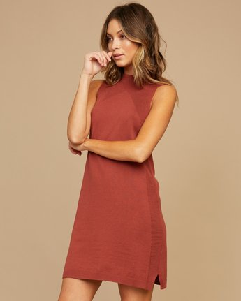 1 Chev Sweater Dress Brown WD01QRCH RVCA