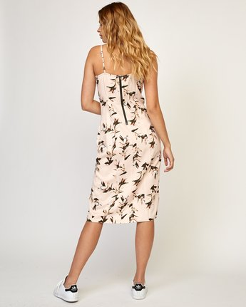 4 Fancy That Floral Dress Beige WD01TRFT RVCA