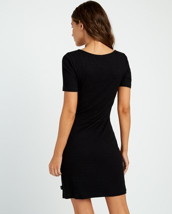 2 Go For Broke Ribbed Dress Black WD01URGO RVCA
