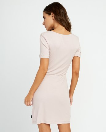3 Go For Broke Ribbed Dress Pink WD01URGO RVCA