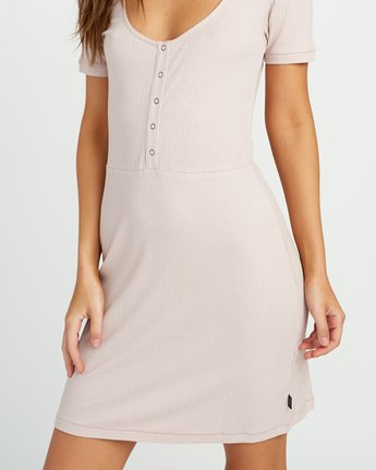 4 Go For Broke Ribbed Dress Pink WD01URGO RVCA
