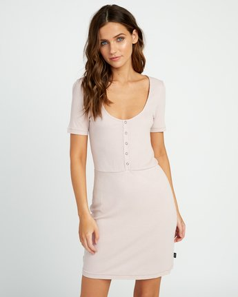 1 Go For Broke Ribbed Dress Pink WD01URGO RVCA