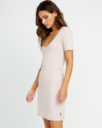 2 Go For Broke Ribbed Dress Pink WD01URGO RVCA