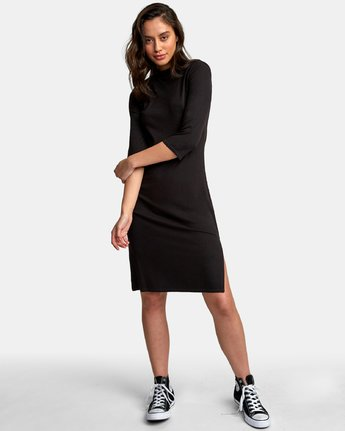 5 Cobra Ribbed Dress Black WD01WRCO RVCA