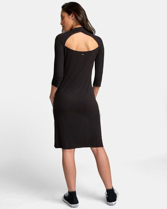 3 Cobra Ribbed Dress Black WD01WRCO RVCA