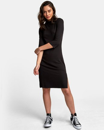 1 Cobra Ribbed Dress Black WD01WRCO RVCA