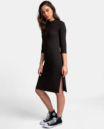 2 Cobra Ribbed Dress Black WD01WRCO RVCA