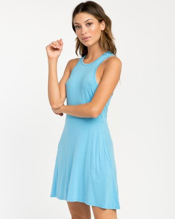 1 Iris Tank Dress Blue WD03PRIR RVCA