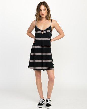 4 Downer Striped Dress Black WD03QRDO RVCA