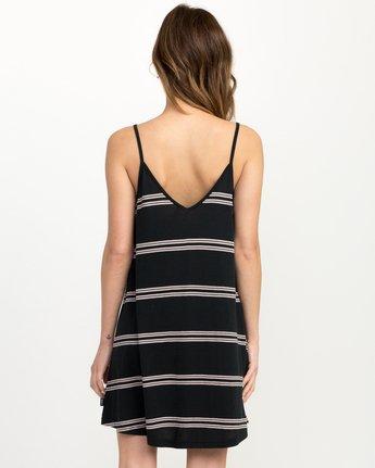 2 Downer Striped Dress Black WD03QRDO RVCA