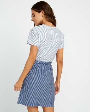 3 Fade Out Striped Knot Dress Blue WD03URFA RVCA