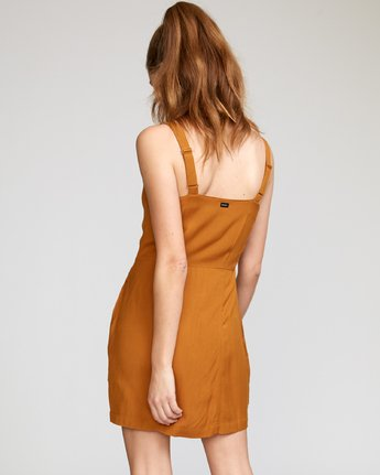 2 Upper Button-Up Dress Brown WD03VRUP RVCA