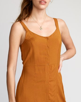 3 Upper Button-Up Dress Brown WD03VRUP RVCA