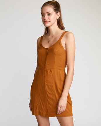 1 Upper Button-Up Dress Brown WD03VRUP RVCA