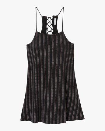 4 Exit Strappy Tank Dress Black WD04QREX RVCA