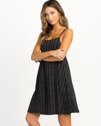 1 Exit Strappy Tank Dress Black WD04QREX RVCA