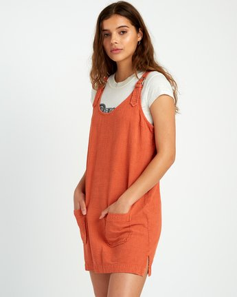 2 Teach That Textured Overall Dress  WD04URTE RVCA