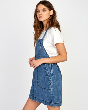 3 Bolt Out Denim Dress Blue WD04VRBO RVCA