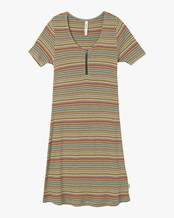 4 Zip It Ribbed Dress Multicolor WD05NRZP RVCA