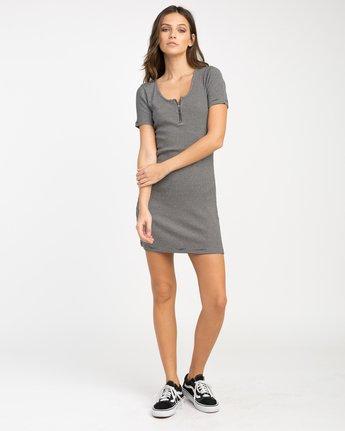 3 Zip It Ribbed Dress  WD05NRZP RVCA
