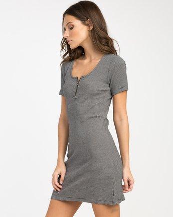 1 Zip It Ribbed Dress Black WD05NRZP RVCA